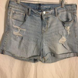 Old navy distressed boyfriend shorts